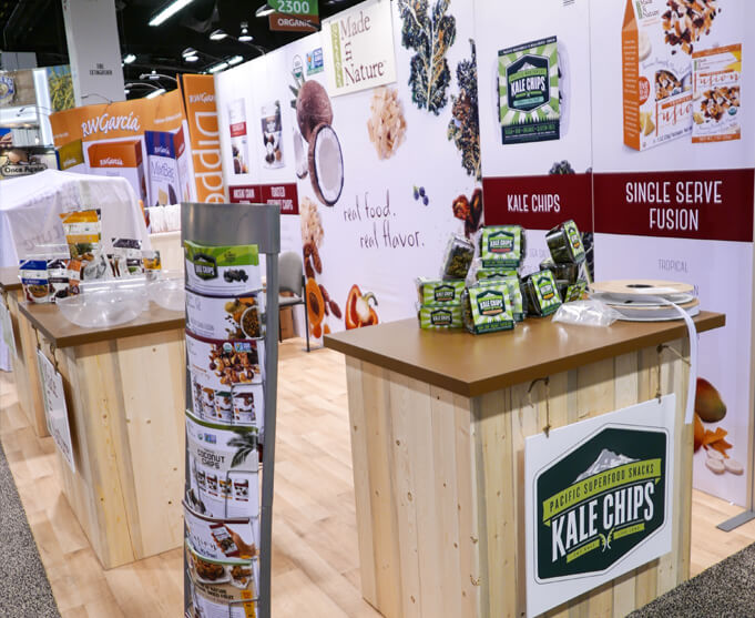 Portable tradeshow booth for natural food company