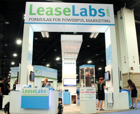 Denver local exhibiting company Condit built this rental booth for Lease Labs