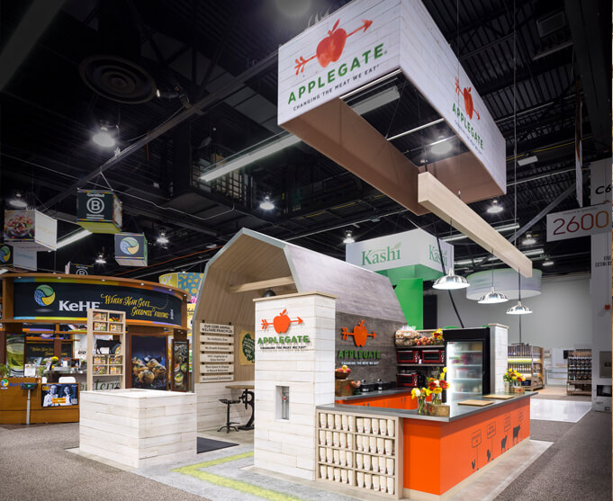 Applegate trade show exhibit for Expo West