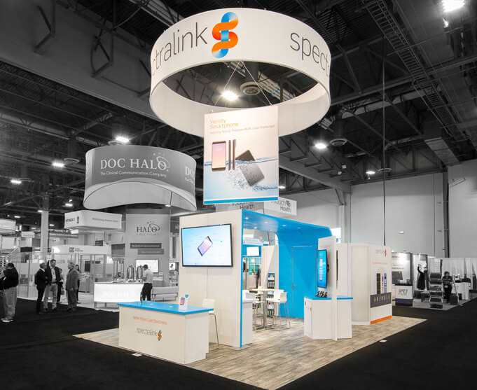 HiMSS trade show booth by Condit Exhibits
