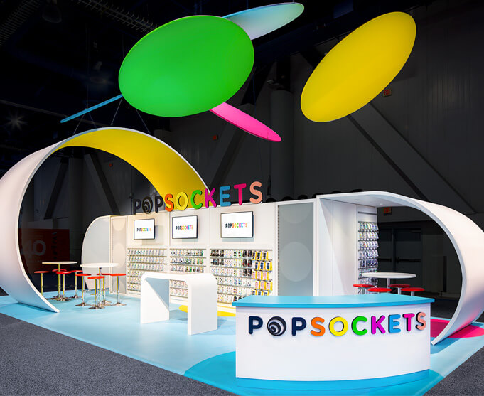 Popsockets trade show booth at CES